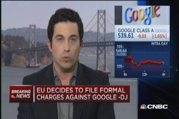 EU to file formal charges against Google: DJ