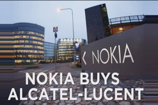 Nokia buying french firm Alcatel Lucent