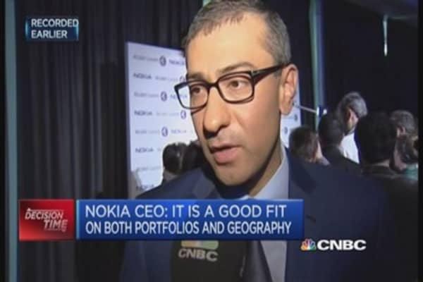 Nokia CEO: Merger is a complimentary fit