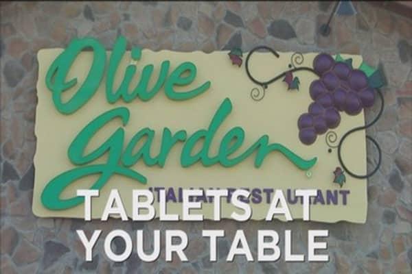 Olive Garden adding tablets
