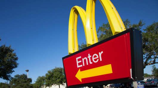 McDonald's Enter sign