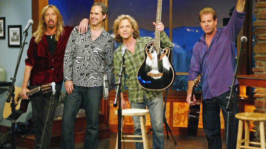 "Rock band Night Ranger performs on ""The Late Late Show"" in Los Angeles."