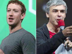 Mark Zuckerberg and Larry Page