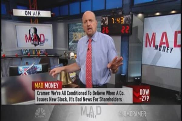 Cramer: Learn to love secondary offerings