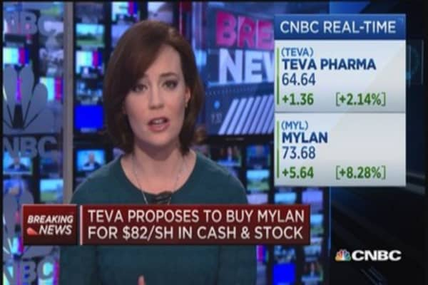 Teva proposes Mylan acquisition