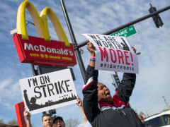 minimum wage protests