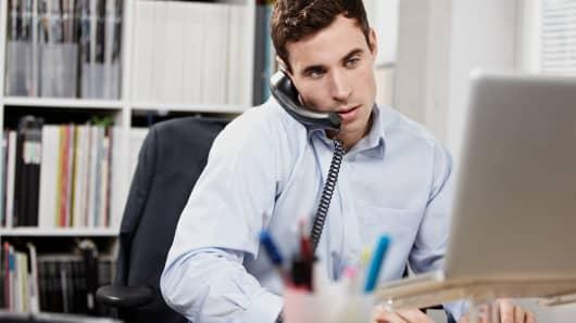 Office worker computer