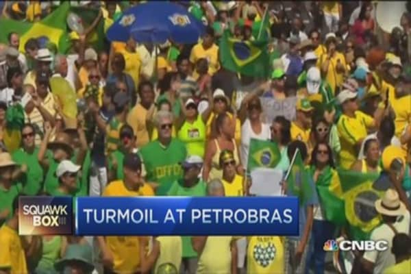 Petrobras posts $2.1B charge linked to scandal