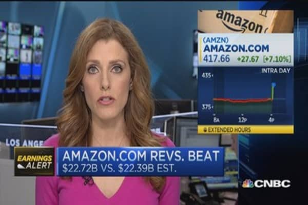Amazon reports better than expected revenue growth