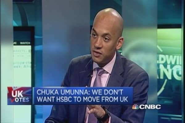 Labour's Umunna: Keep HSBC in the UK