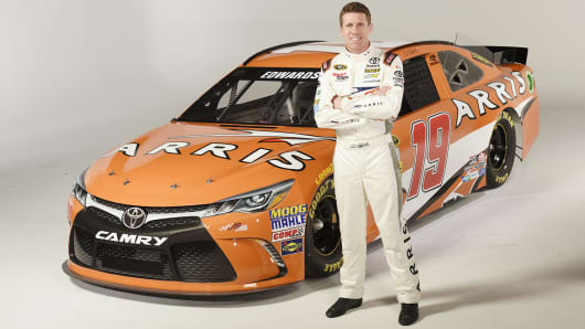 Carl Edwards and Arris sponsored NASCAR