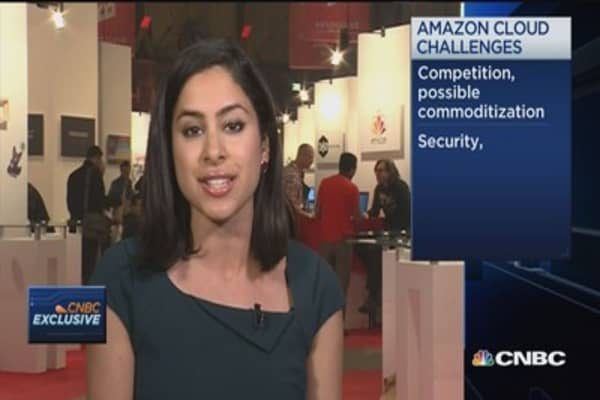 Two challenges for Amazon's cloud business