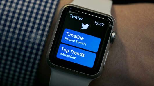 Apple Watch Twitter app.
