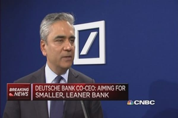 Want to avoid another Libor incident: Deutsche Bank Co-CEO