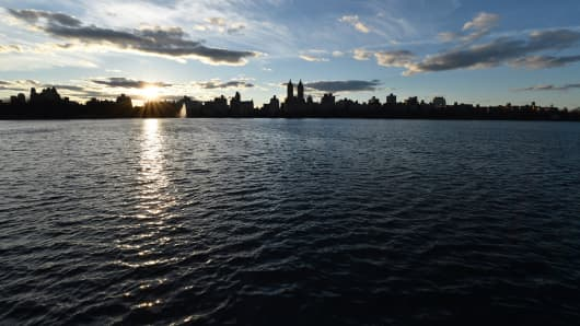 The Jacqueline Kennedy Onassis Reservoir in New York's Central Park.