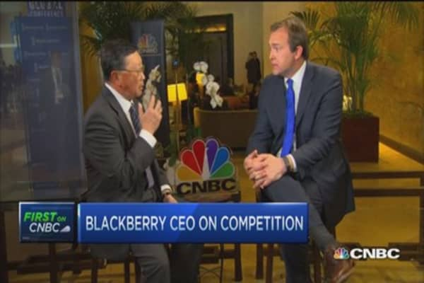 Something brewing for Blackberry: BBRY CEO