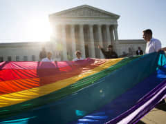 Gay marriage supporters U.S. Supreme Court