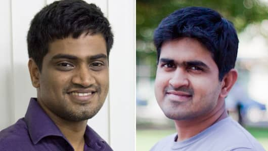 Harishankaran and Vivek Ravisankar, co-founders of HackerRank