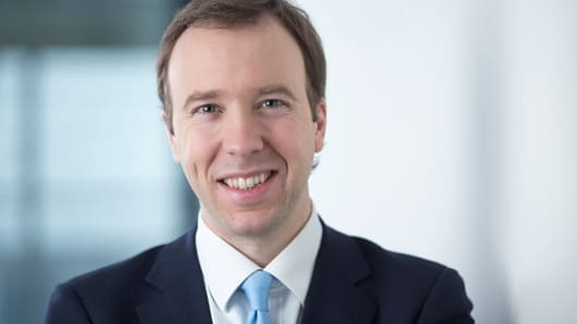 Matthew Hancock, the U.K. Conservative party's business minister