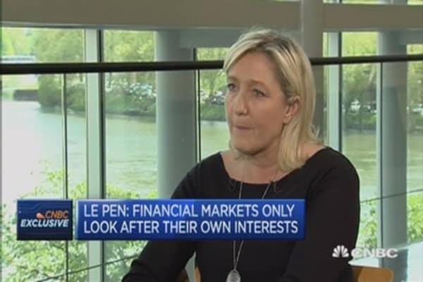 Need to return to economic sovereignty: Marine Le Pen