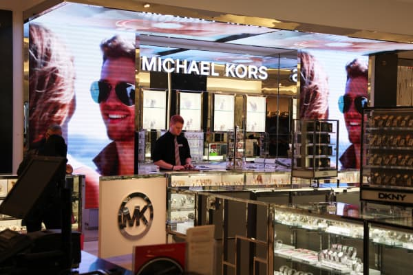 Michael Kors counter at Macy's