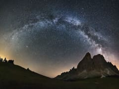 View of the Milky Way and galaxy from Earth.