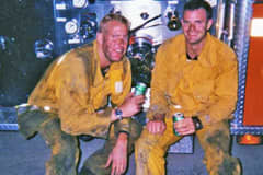 Los Angeles area firefighters Rob Nowaczyk and Ed Walker.