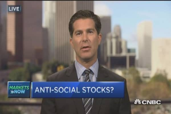 Wall Street feeling anti-social