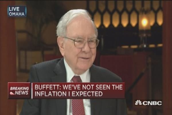 Fed has done 'right thing': Buffett