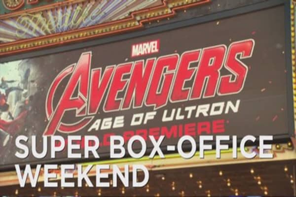 'Avengers' tops box office