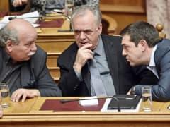 Yannis Dragasakis, Nikos Voutsis and Alexis Tsipras