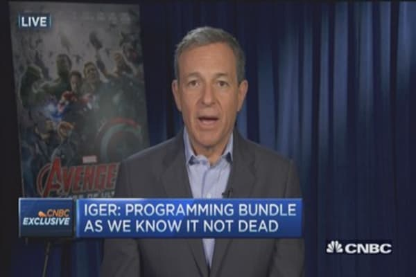 Iger: Unbundling would raise broadband costs