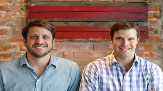 Adam Vitarello (left) and Tobin Moore, co-founders of Optoro