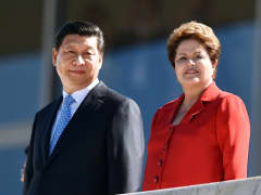 Xi Jinping China and Dilma Rousseff Brazil