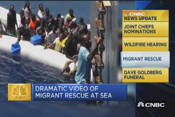 CNBC update: Video of migrant rescue at sea