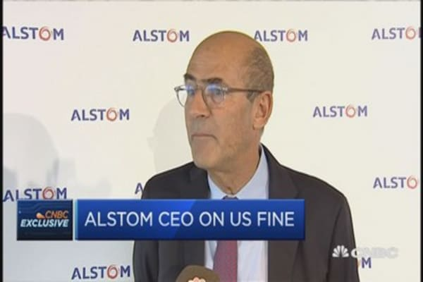 Alstom CEO on US fine