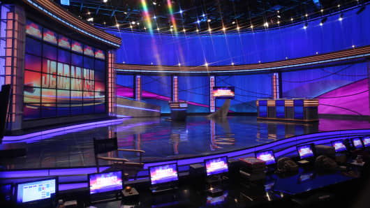 "The ""Jeopardy!"" stage at Sony Pictures Studio, Culver City, California."