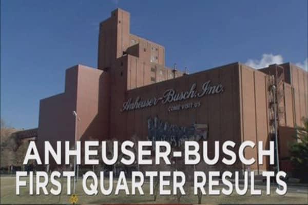 Anheuser-Busch Q1 results