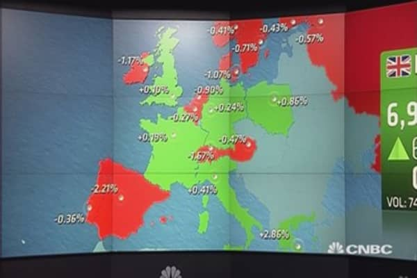 Europe shares end mostly higher as euro rallies