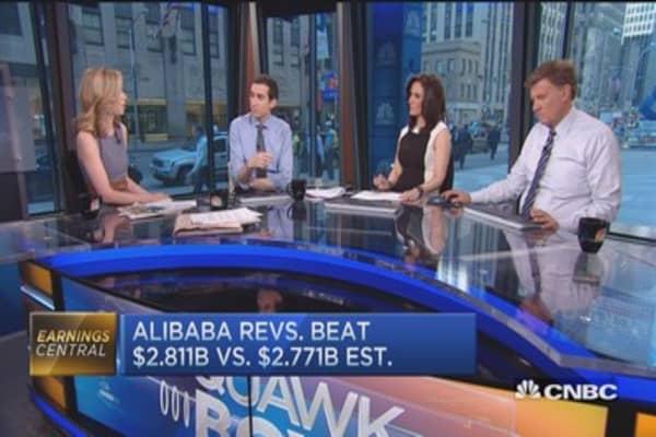 BABA beats Street, announces new CEO