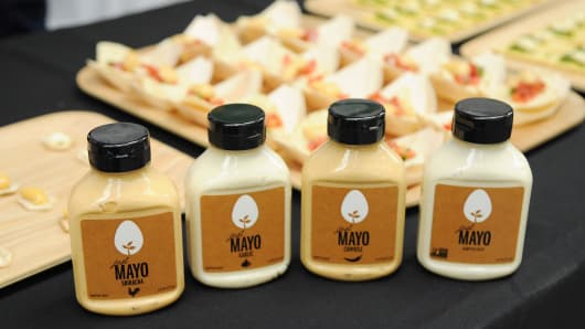 Hampton Creek's Just Mayo contains a laboratory-born egg substitute.