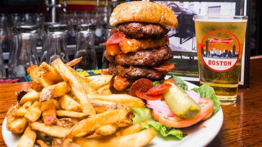 Conor Larkin's Grill & Tap's Husky Burger Challenge