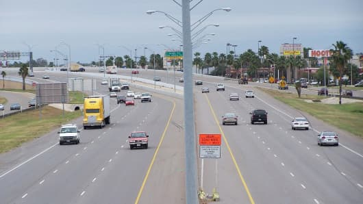 U.S. Highway 83 in McAllen, Texas