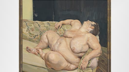Benefits Supervisor Resting by Lucian Freud