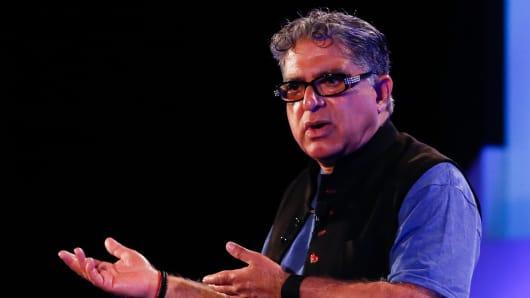 Deepak Chopra speaks at eMerge Americas in Miami.