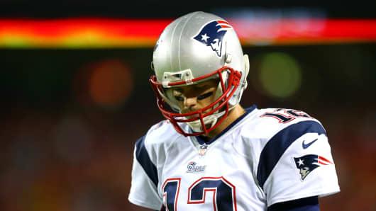 Tom Brady #12 of the New England Patriots.