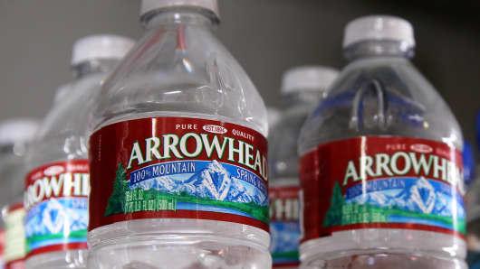 Nestle's Arrowhead bottled water