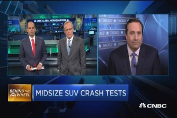 Midsize SUV crash tests