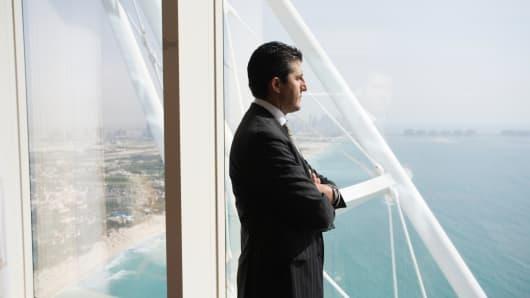 Western businessman in Dubai