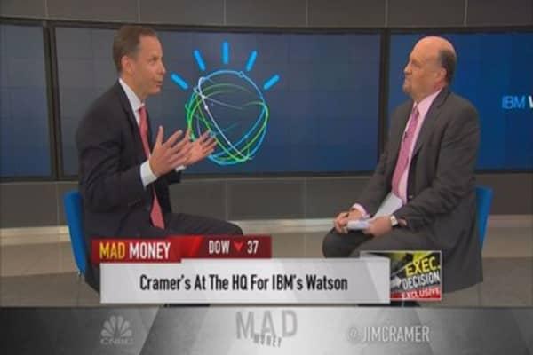 Cramer goes inside IBM's Watson
